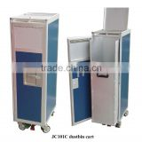 Aviation Inflight Waste Cart Waste Collection Cart Garbage Storage Trolley for Aircraft, Airline, Airplane, Aeroplane