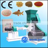 Feed formulation extruder machine for floating fish feed production