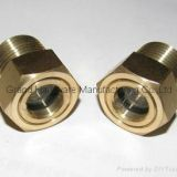 male NPT pipe thread Oil sight glass for pump