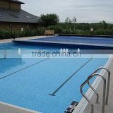 Automatic swimming pool cover different width