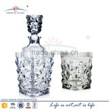 Decanter,Whiskey Drinkware Barware Drink Set With 6 Crystal Double Old Fashioned Glasses