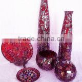 Red Color vases for wedding centerpieces mirror