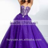 latest v neck backless bling purple ball gown wedding dresses