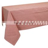 100% cotton red striped Table cloth from India