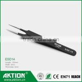 black patten anti-static ESD stainless steel tweezer ESD-14