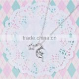 New Fashion Necklace Link Cable Chain Antique Silver Fairy Moon Star Pendants 51.6cm long