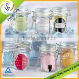 High quality glass jar with lid wholesale hot selling