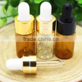 3ml Amber Glass Eye Dropper Bottles/Vials Essential oil bottle Storing Display Sample Bottles