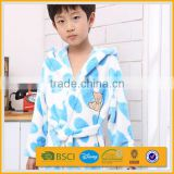 cute animal coral fleece hooded baby bathrobe