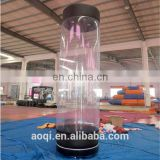 Outdoor advertising tubes inflatable column
