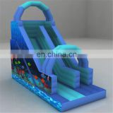 Ocean Theme Double Lane Commercial Inflatable outdoor Water slide board with accessories For Kids And Adult