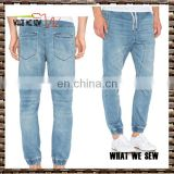 latest designer fisherman jeans men harem running denim pants