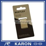 personalized stainless steel money clip with hanger