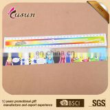 Fashion design promotional logo customized 30cm straight custom plastic ruler