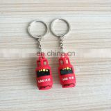 promotional giveaway soft plastic pvc gas tank keyring with custom logo