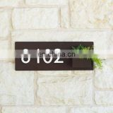 Rustic Vertical Garden Hanging Wall Planter With Plaque Metal Address Numbers