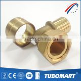 Heating system water supply plumbing brass fitting pipe compression fittinging with cheap price