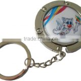 Rotatable Printing Paster Metal Lady Button With Keyring Factory Wholesale                                                                         Quality Choice