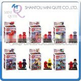 Mini Qute LEBQ 6pcs/set American cartoon model big hero 6 baymax building block action figures educational toy NO.1719