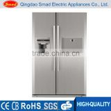 512L Side by side frost-free refrigerator with icemaker,water dispenser and mini bar