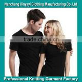 fashion unisex plain blank tshirt from Alibaba supplier /High Quality Plain Black Blank T Shirts Design For Lovers