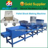 Compressed wood blocks making machines with automatic wooden block former