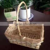 Rectangular <b>wicker</b> wedding gift basket for customer,<b>wicker</b> flower basket for decoration
