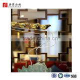 Rose gold stainless steel mirror 304 color metal screen room divider, laser cut screen partition sheet for hotels/living room                                                                         Quality Choice