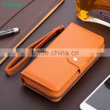 Multifunction wallet leather case with zipper for iphone 6 case with card slots                                                                         Quality Choice