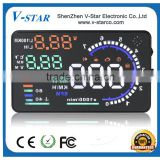 Car HUD with Head Up Display Vehicle-mounted Security System With OBD2 Interface Overspeed Warning Fuel Consumption