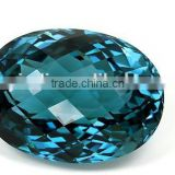 Chinese Manufacturer Wholesale Oval Shape Dark Blue CZ Stone