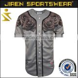 top quality button down full sublimation dri fit plain baseball jersey 5xl