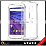 Keno Super Thin Clear TPU Silicone Gel Skin Case Cover For Motorola Moto G3 G 3rd Gen