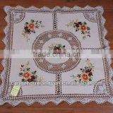 MZ- Handmade Crochet Ribbon Embroidery White waffle fabric Table Cloth home textile                                                                         Quality Choice