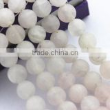 2.0mm Large Hole Hot Selling Round Matte Rose Quartz Gemstone Loose Beads Approximate 15.5 Inch
