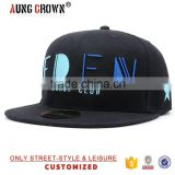 Customized flat brim embroidery designer snap back caps                                                                         Quality Choice