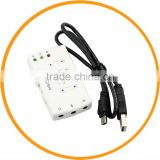 USB DAC Headphone Earphone Amplifier for Computer Virtual 7.1ch Sound Card White from dailyetech