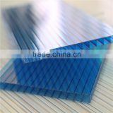 China manufacturer 4mm/6mm/8mm/10mm twin-wall polycarbonate hollow sheet/pc roofing material/pc awning toilet cover sheets