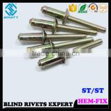 HIGH QUALITY HOT SELLING FACTORY STRUCTURE HIGH TENSILE STRENGTH STEEL HEM TYPE BLIND RIVETS FOR automobile