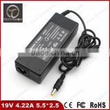 100% Perfect Working Laptop AC Adapter Charger 80W 19V 4.22A 5.5mm*2.5mm For Fujitsu Siemens LifeBook C1211 C1211D C1212 C121