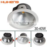 Wholesale own brand aluminum recessed 30w large angle high transmittance led cob downlight