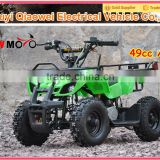 QWMOTO CE 4 Wheeler Easy Pull Starter 49CC 2 stroke Mini Dirt Quad Bike 50cc Mini Kids ATV for Cheap Sale