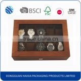 Luxury solid wood watch display box with pillow                                                                         Quality Choice