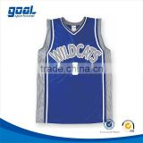 Most popular 100 polyester sublimation men's custom wholesale blue dri fit basketball shirts