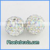 12MM Shamballa AB Crystal Beads High Quality Wholesale Clay Rhinestone Disco Ball Jewelry Accessories DIY Bracelets