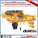 3D Design Drawing 32t/10t double hook electric hoist overhead cranes/bridge cranes for sale