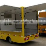 4 wheels street food van truck with 3 dispensing windows