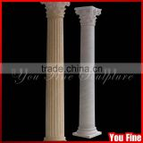 Different Color Natural Marble Carving Roman Pillar Design