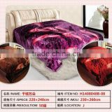 China factory direct manufacturer flower print mink coral fleece warm blanket                                                                                                         Supplier's Choice