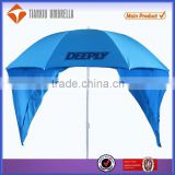 2014 new design fashionable sunscreen UV protection tent beach umbrellas with purdah